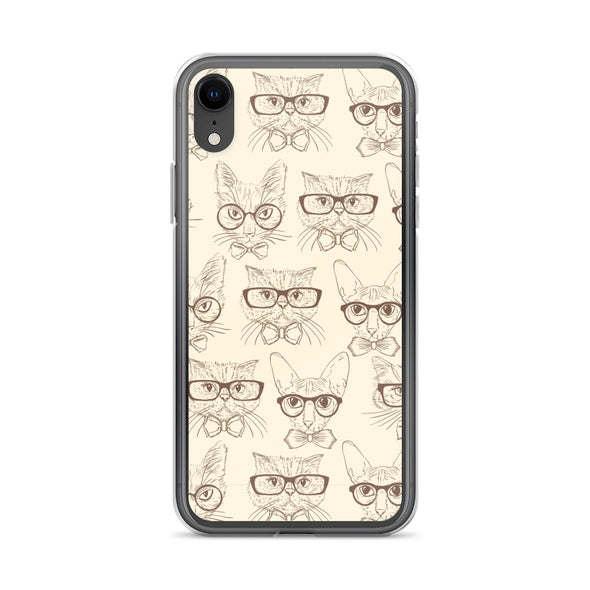 Cats in Glasses iPhone Case