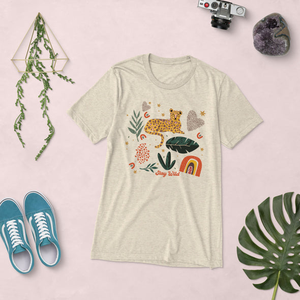 Stay Wild Leopard Graphic Super Soft Tee