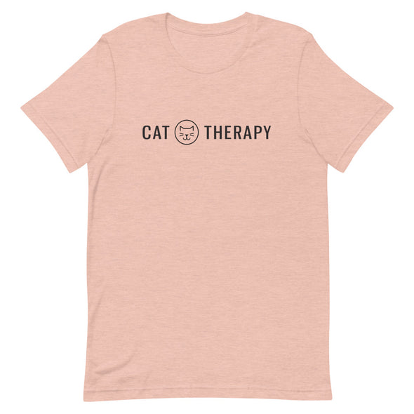 Cat Therapy Logo Unisex Tee