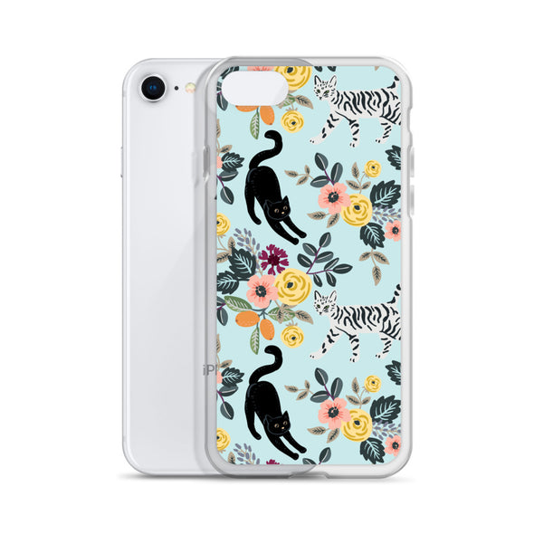 Cats & Flowers iPhone Case