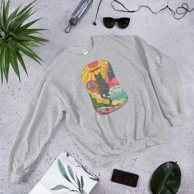 Stay Pawsitive Psychedelic Hand Drawing Unisex Sweatshirt