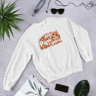 Stay Pawsitive Retro Flowers Unisex Sweatshirt