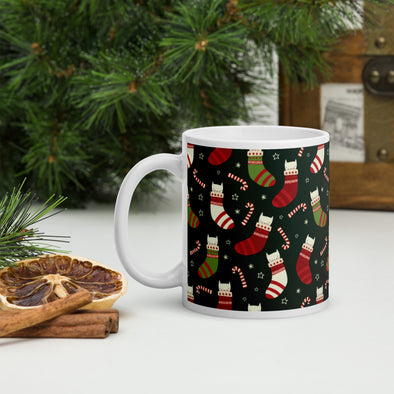Cats & Socks Holiday Mug
