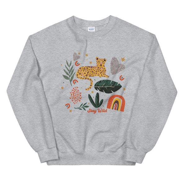 Stay Wild Leopard Graphic Unisex Sweatshirt