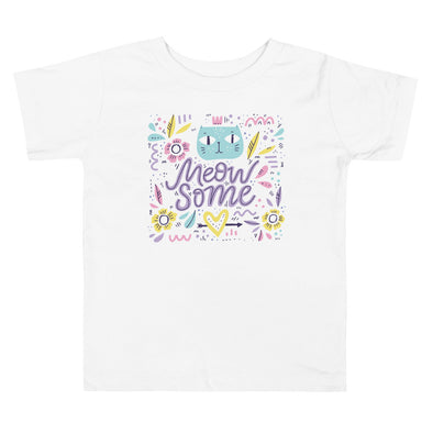 Meowsome Toddler Short Sleeve Tee