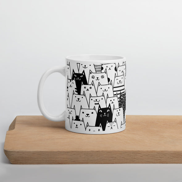 Black and White Cats Mug
