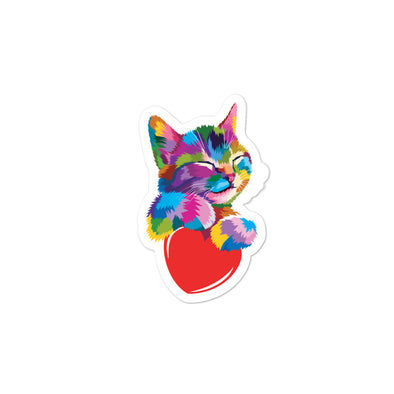 Cat Hug Sticker