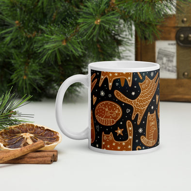 Gingerbread Cats Holiday Mug