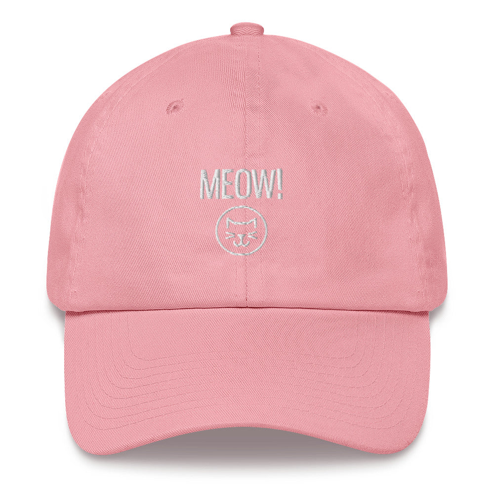 Unisex Meow Embroidered Hat