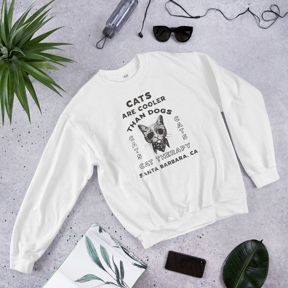 Cats Are Cooler Than Dogs Unisex Sweatshirt