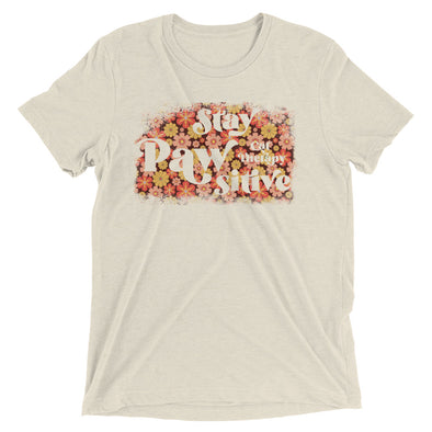 Stay Pawsitive Retro Flowers Super Soft Tee