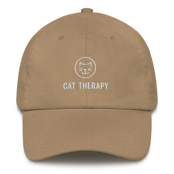 Unisex Cat Therapy Embroidered Hat