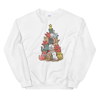 Christmas Cat Tree Unisex Sweatshirt