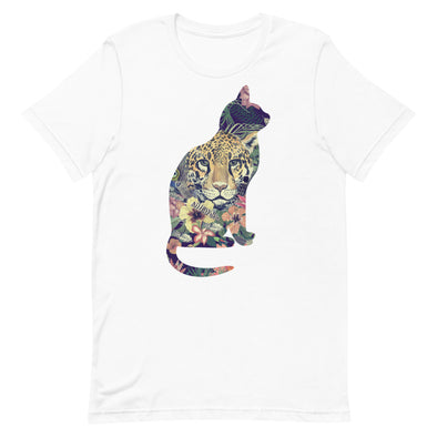 Cat Shape Leopard Inside Unisex T-Shirt