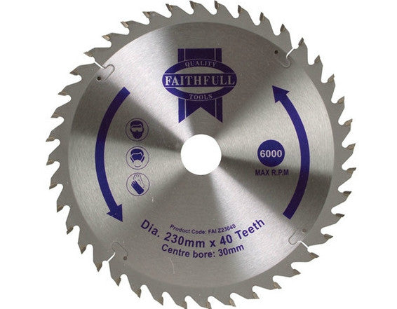 "Blade 9.5"" TCT 40Teeth - B9INTCT40TAD"