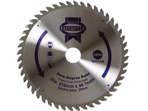 "Blade 8.5"" Mitre Saw (for wood - 48teeth) - B8.5INMSW48TAD"