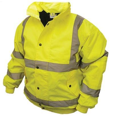 Jacket Hi-Vis Bomber Yellow Large - JHVBYLPE