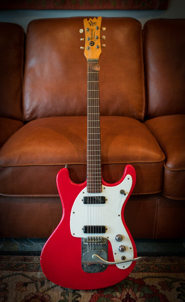 1965 Mosrite Ventures II Slab Red