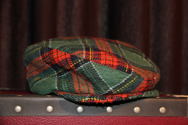 Vintage Red & Green Ivy Cap