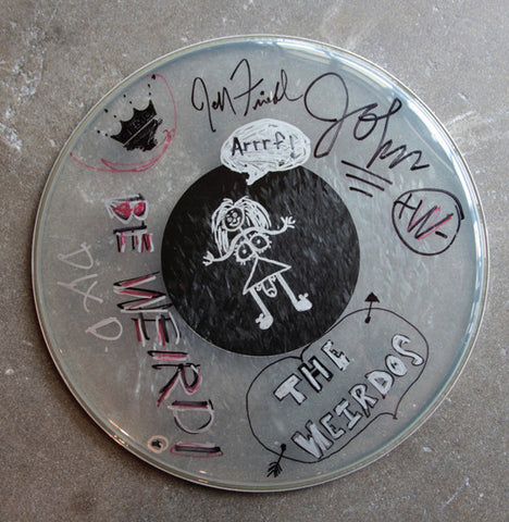 Weirdos Original Art - Signed Drum Head #1
