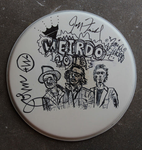 Weirdos Original Art - Signed Drum Head #2
