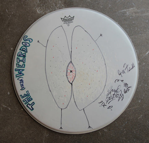 Weirdos Original Art - Signed Drum Head #5