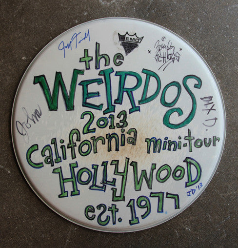 Weirdos Original Art - Signed Drum Head #6