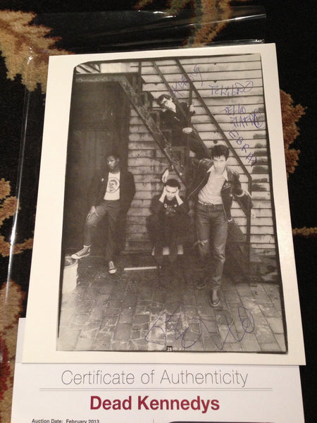 Dead Kennedys Original Signed 8x10