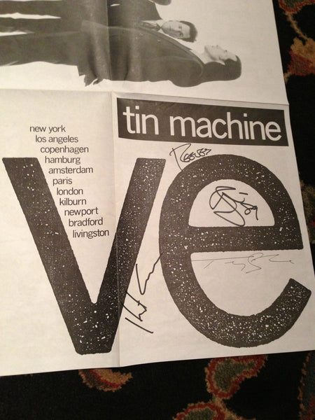 David Bowie Tin Machine Signed Poster