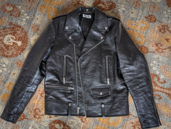Saint Laurent L01 Calfskin Leather Biker Jacket 52
