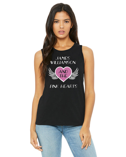 James Williamson & The Pink Hearts Ladies Muscle Tank