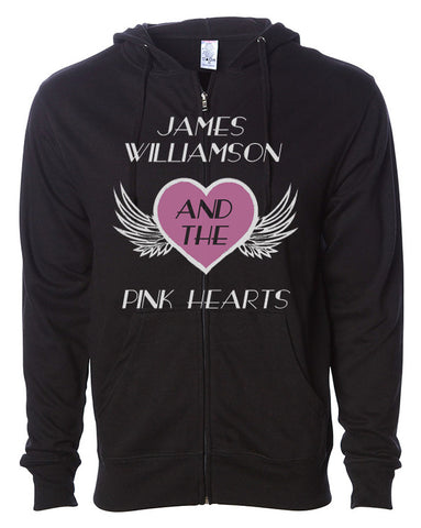 James Williamson & The Pink Hearts Zipper Hoodie