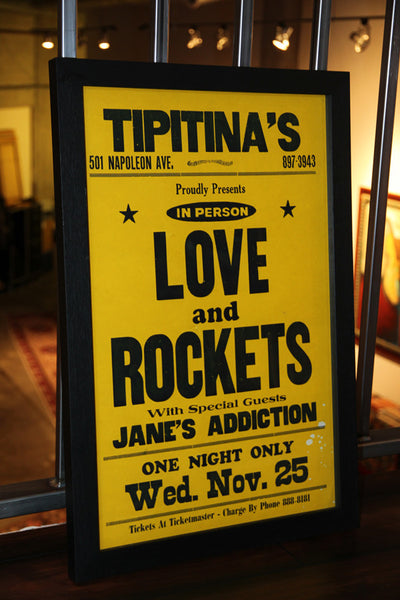 Love and Rockets & Jane's Addiction 1989 New Orleans Vintage Framed Poster