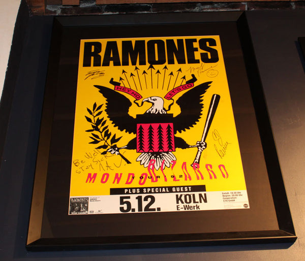 The Ramones Mondo Bizarro Signed Poster