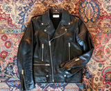 Saint Laurent L01 Lambskin Leather Biker Jacket 52 2019