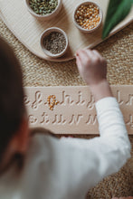 Load image into Gallery viewer, Wooden Double Sided Cursive Alphabet Board - Montessori Learning Resource