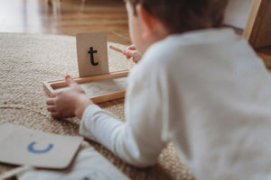 Wooden Sand Writing Tray - Montessori Learning Resource