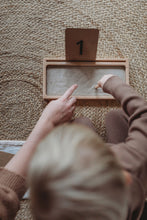 Load image into Gallery viewer, Wooden Sand Writing Tray - Montessori Learning Resource