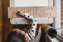 Load image into Gallery viewer, Wooden Double Sided Alphabet Tracing Board