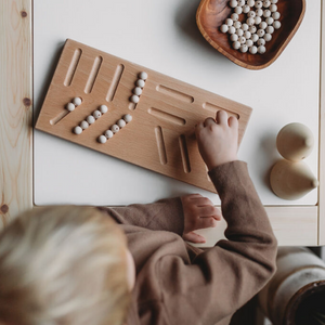 Wooden Pre-Writing Tracing Board - Montessori Learning Resource