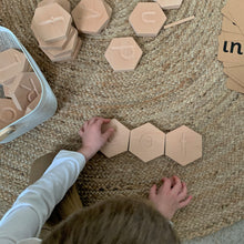 Load image into Gallery viewer, Wooden Alphabet Tiles - Montessori Learning Resource