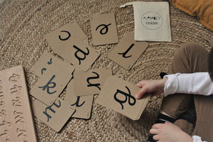 Cursive Alphabet Flashcards - Montessori Learning Resouce