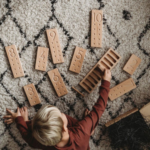 Wooden Number Counting Boards