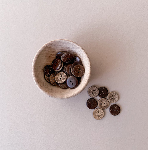 Coconut Shell Buttons - Loose Part Play