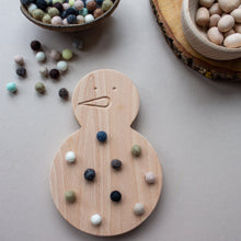 Load image into Gallery viewer, Wooden Snowman - Fine Motor Board
