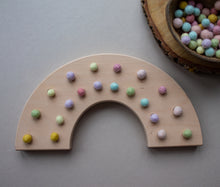 Load image into Gallery viewer, Wooden Rainbow - Fine Motor Board