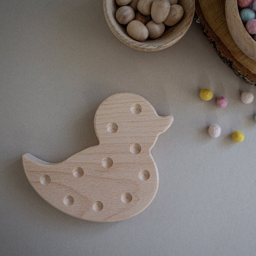 Wooden Chick - Fine Motor Board