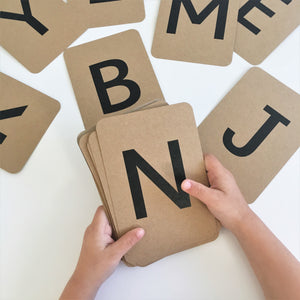Alphabet Flashcards - Montessori Learning Resouce