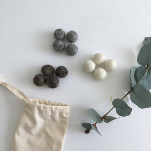 Natural Felt Balls - Loose Part Play