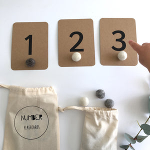 Number Flashcards - Montessori Learning Resouce